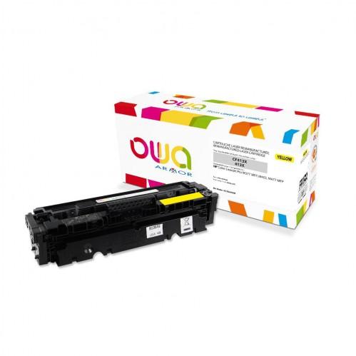 Cartouche Laser OWA remanufacturée compatible HP CF412X - Jaune - 5000p