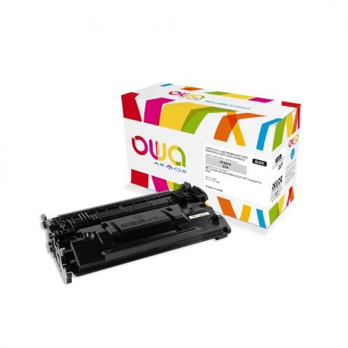 Cartouche Laser OWA remanufacturée compatible HP CF287A - Noir - 9000p