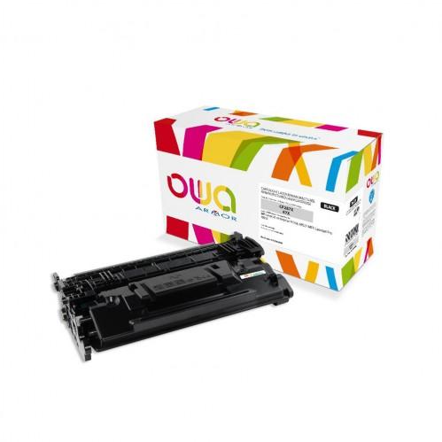 Cartouche Laser OWA remanufacturée compatible HP CF287X - Noir - 18000p
