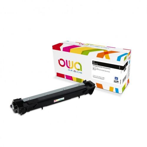 Cartouche Laser OWA remanufacturée compatible HP CF217A - Noir - 1600p