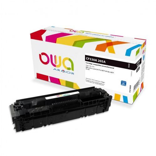 Cartouche Laser OWA remanufacturée compatible HP CF530A - Noir - 1100p