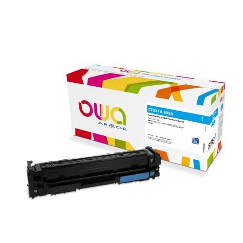 Cartouche Laser OWA remanufacturée compatible HP CF531A - Cyan - 900p