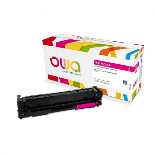 Cartouche Laser OWA remanufacturée compatible HP CF533A - Magenta - 900p