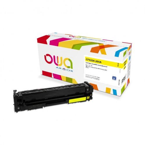Cartouche Laser OWA remanufacturée compatible HP CF532A - Jaune - 900p