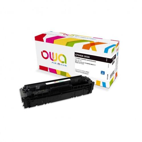 Cartouche Laser OWA remanufacturée compatible HP CF540A - Noir - 1400p
