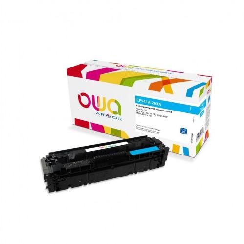 Cartouche Laser OWA remanufacturée compatible HP CF541A - Cyan - 1300p