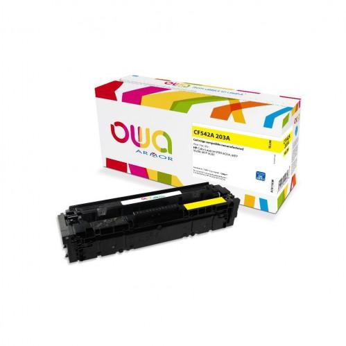 Cartouche Laser OWA remanufacturée compatible HP CF542A - Jaune - 1300p