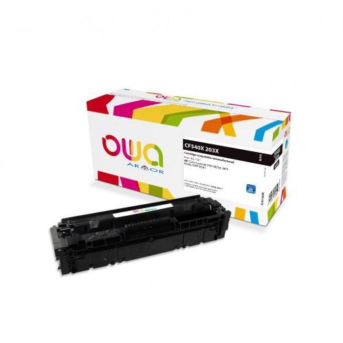 Cartouche Laser OWA remanufacturée compatible HP CF540X - Noir - 3200p