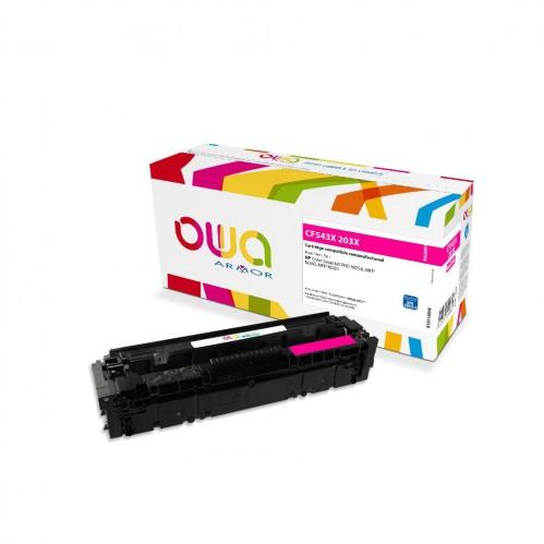 Cartouche Laser OWA remanufacturée compatible HP CF543X - Magenta - 2500p