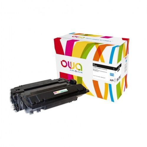 Cartouche Laser OWA remanufacturée compatible HP CE255X - Noir - 24000p