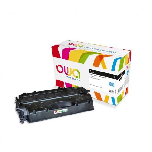 Cartouche Laser OWA remanufacturée compatible HP CE505X - Noir - 13000p