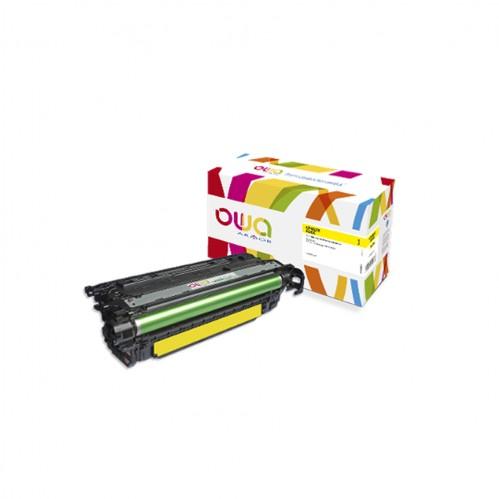 Cartouche Laser OWA remanufacturée compatible HP CF462X - Jaune - 22000p