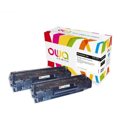 Cartouche Laser OWA remanufacturée compatible HP CE285A - Noir - 2 x 1600p