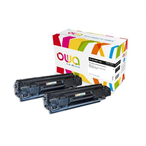 Cartouche Laser OWA remanufacturée compatible HP CE278A - Noir - 2 x 2100p