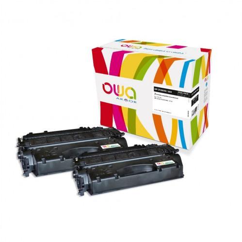 Cartouche Laser OWA remanufacturée compatible HP CF280X - Noir - 2 x 6900p