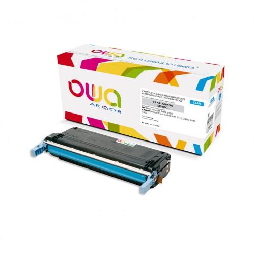 Cartouche Laser OWA remanufacturée compatible HP C9731A - Cyan - 12000p