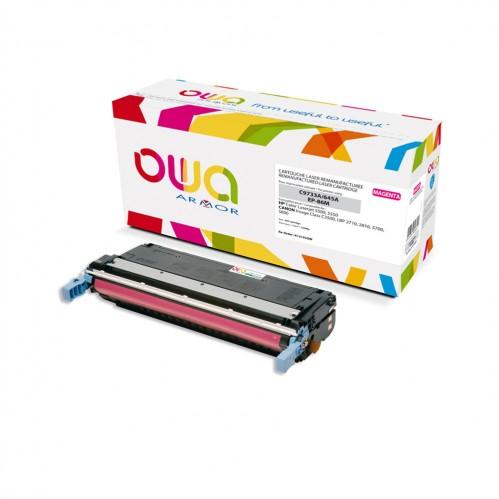 Cartouche Laser OWA remanufacturée compatible HP C9733A - Magenta - 12000p