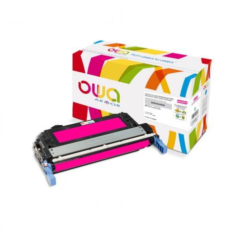 Cartouche Laser OWA remanufacturée compatible HP Q5953A - Magenta - 10000p