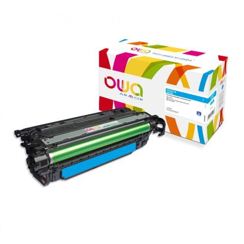 Cartouche Laser OWA remanufacturée compatible HP CF451A - Cyan - 10500p