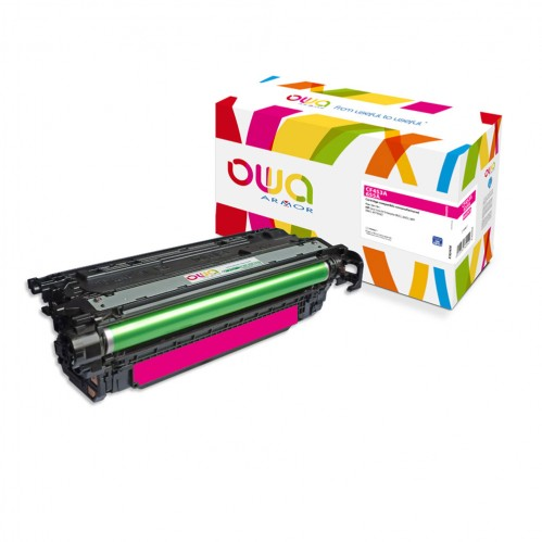 Cartouche Laser OWA remanufacturée compatible HP CF453A - Magenta - 10500p