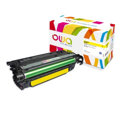 Cartouche Laser OWA remanufacturée compatible HP CF452A - Jaune - 10500p