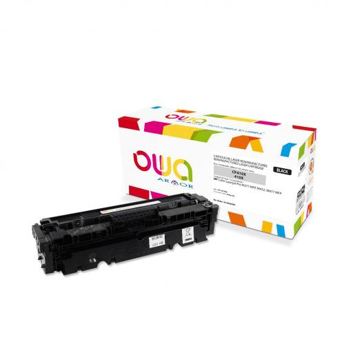 Cartouche Laser OWA remanufacturée compatible HP CF410X - Noir - 6500p