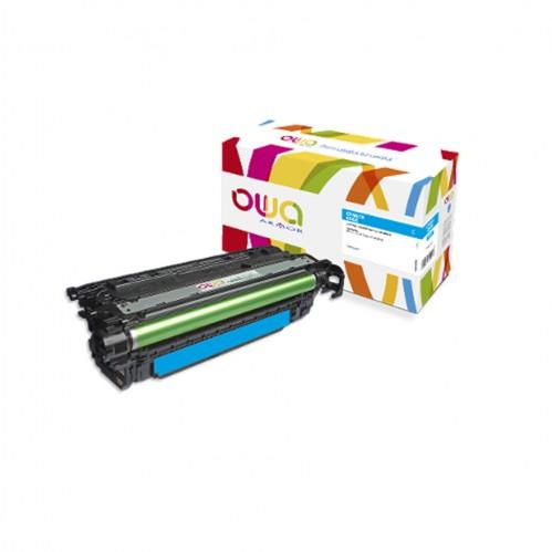 Cartouche Laser OWA remanufacturée compatible HP CF461X - Cyan - 22000p