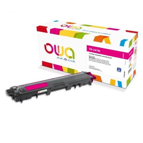 Cartouche Laser OWA remanufacturée compatible BROTHER TN-247M - Magenta - 2300p