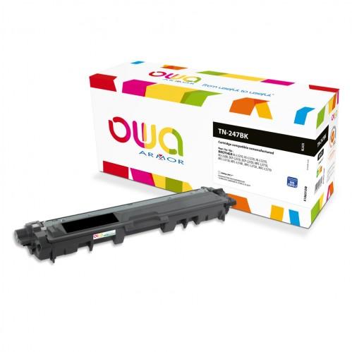 Cartouche Laser OWA remanufacturée compatible BROTHER TN-247BK - Noir - 3000p