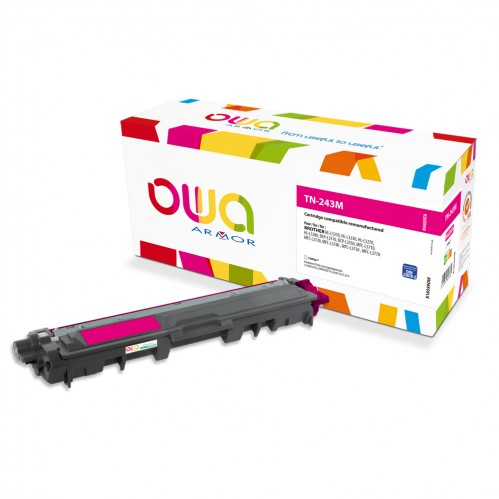 Cartouche Laser OWA remanufacturée compatible BROTHER TN-243M - Magenta - 1000p