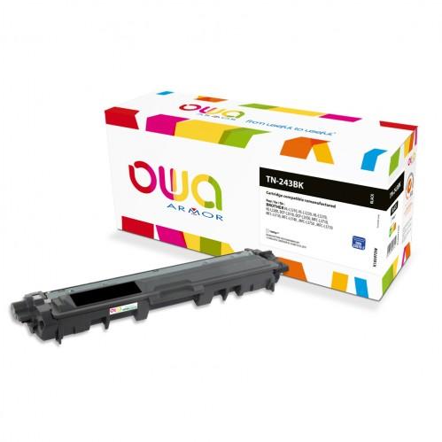 Cartouche Laser OWA remanufacturée compatible BROTHER TN-243BK - Noir - 1000p