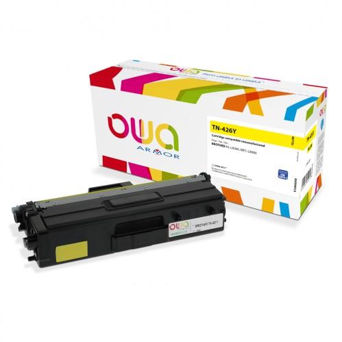 Cartouche Laser OWA remanufacturée compatible BROTHER TN-426Y - Jaune - 6500p