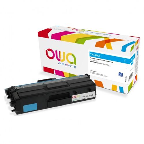 Cartouche Laser OWA remanufacturée compatible BROTHER TN-426C - Cyan - 6500p