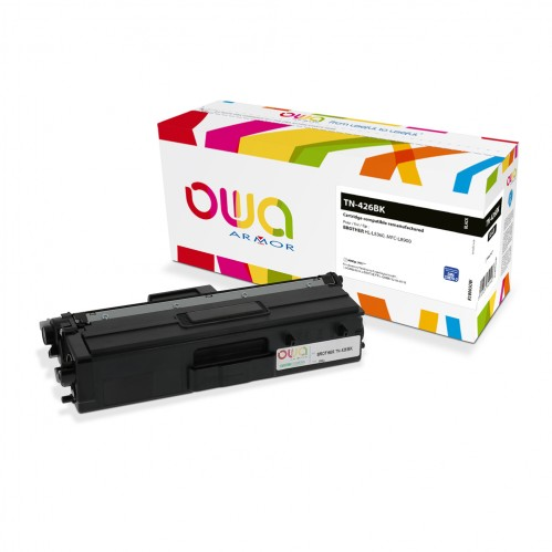 Cartouche Laser OWA remanufacturée compatible BROTHER TN-426BK - Noir - 9000p