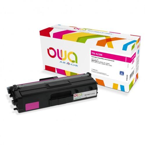 Cartouche Laser OWA remanufacturée compatible BROTHER TN-423M - Magenta - 4000p