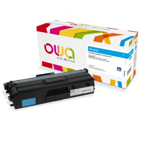 Cartouche Laser OWA remanufacturée compatible BROTHER TN-423C - Cyan - 4000p