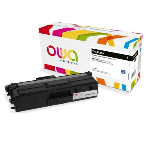 Cartouche Laser OWA remanufacturée compatible BROTHER TN-423BK - Noir - 6500p