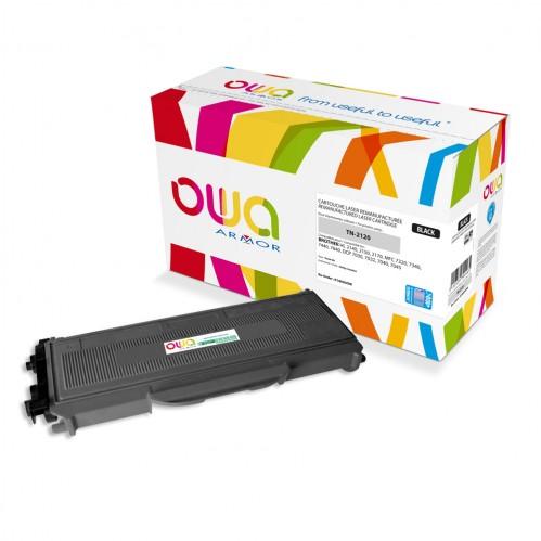 Cartouche Laser OWA remanufacturée compatible BROTHER TN-2120 - Noir - 5200p