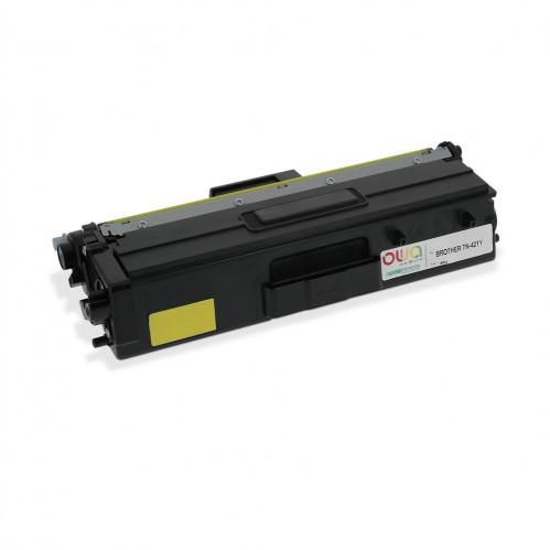 Cartouche Laser OWA remanufacturée compatible BROTHER TN-421Y - Jaune - 1800p