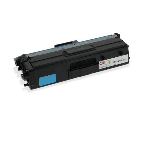 Cartouche Laser OWA remanufacturée compatible BROTHER TN-421C - Cyan - 1800p
