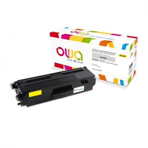 Cartouche Laser OWA remanufacturée compatible BROTHER TN-900Y - Jaune - 6000p