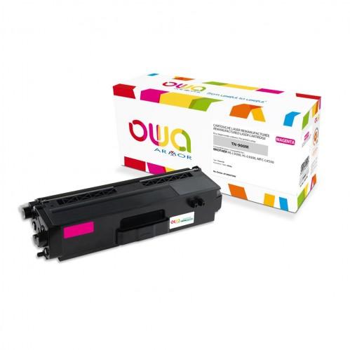 Cartouche Laser OWA remanufacturée compatible BROTHER TN-900M - Magenta - 6000p