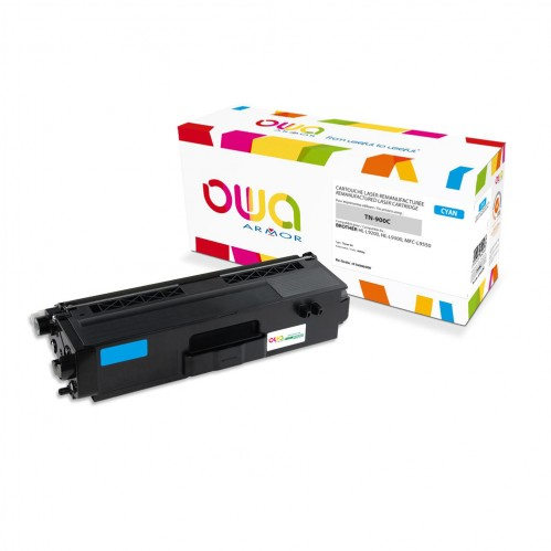 Cartouche Laser OWA remanufacturée compatible BROTHER TN-900C - Cyan - 6000p