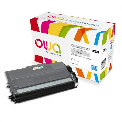 Cartouche Laser OWA remanufacturée compatible BROTHER TN-3390 - Noir - 16000p