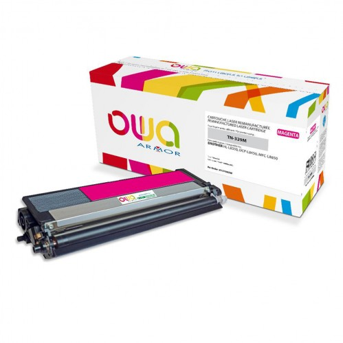 Remanufactured OWA laser cartridge compatible with BROTHER TN-329M - Magenta - 6000p