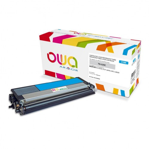 Cartouche Laser OWA remanufacturée compatible BROTHER TN-329C - Cyan - 6000p