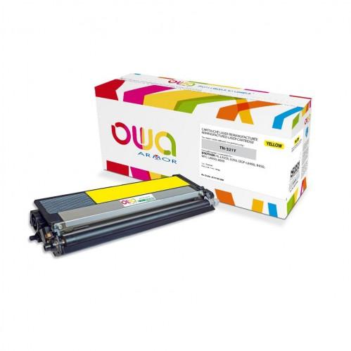 Cartouche Laser OWA remanufacturée compatible BROTHER TN-321Y - Jaune - 1500p
