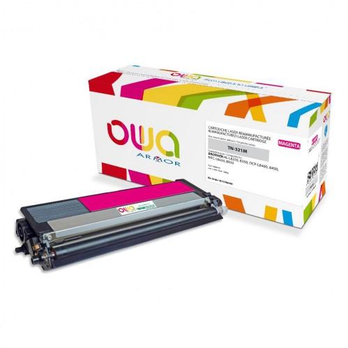 Cartouche Laser OWA remanufacturée compatible BROTHER TN-321M - Magenta - 1500p